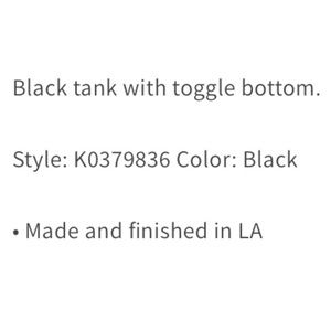 LF Tops - NWT LF distressed toggle bottom tank